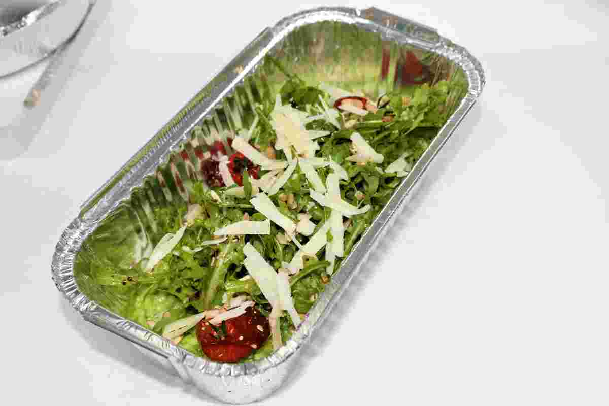 Bärlauchrisotto im Außer-Haus-Verkauf, Speisen zum Abholen, Restaurant Eimermacher, Engelskirchen