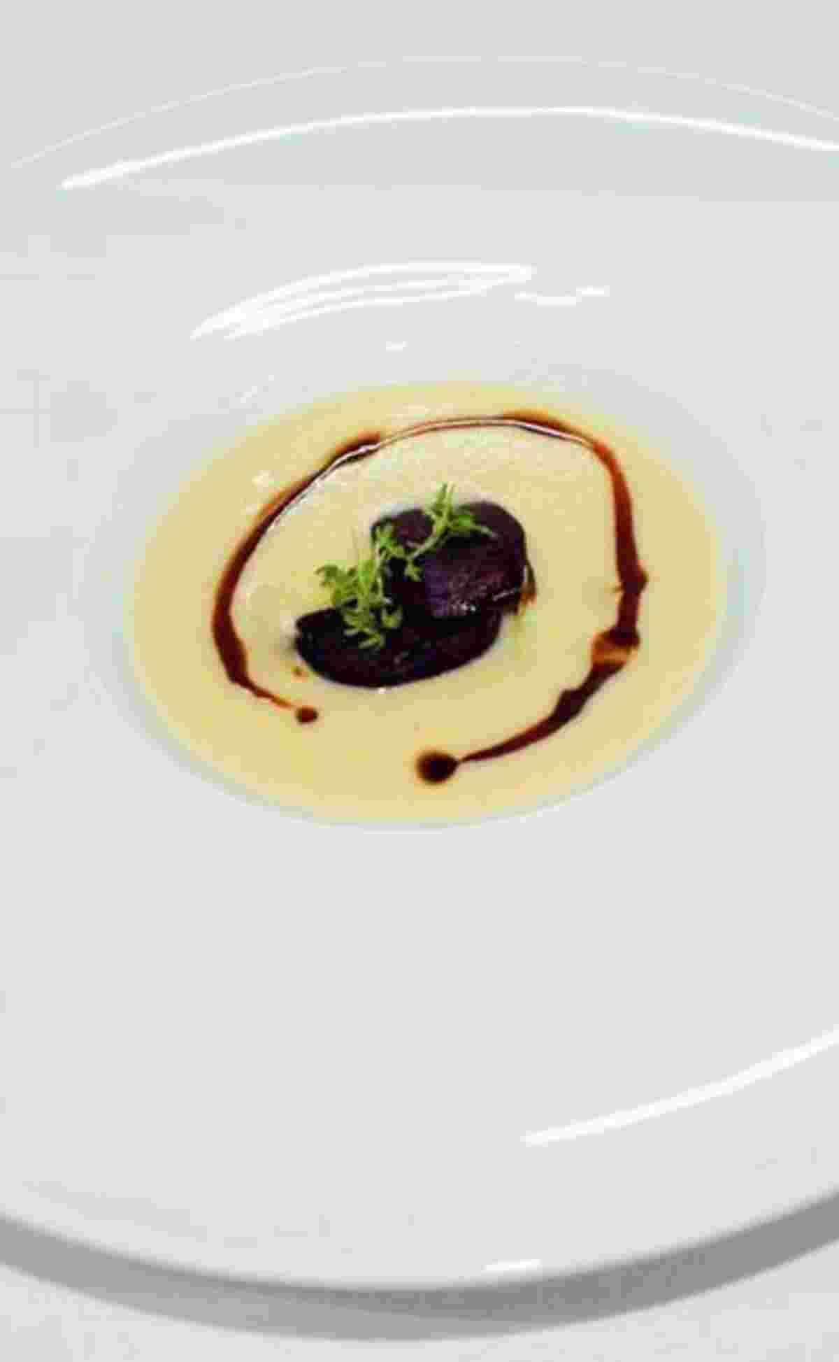 Kochen mit Liebe, Schwarzwurzelcremesuppe mit Blutwurst, Restaurant Eimermacher