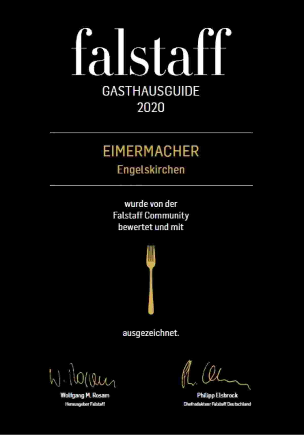 Falstaff, ausgezeichnet essen in Engelskirchen, gute Restaurantkritik, gute Restaurantbewertung,